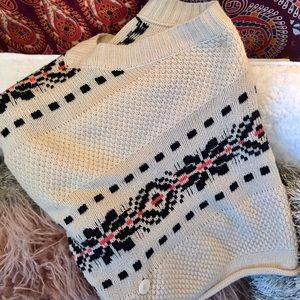 Poncho Pullover Sweater
